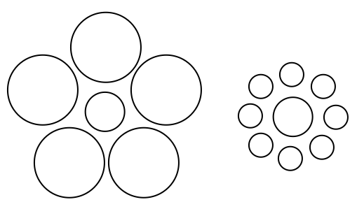 how to draw multiple circles of different size illustrator