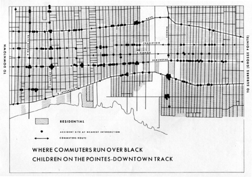 Bill Bunge's Detroit Expedition map 1968 - radical cartography that had a big impact