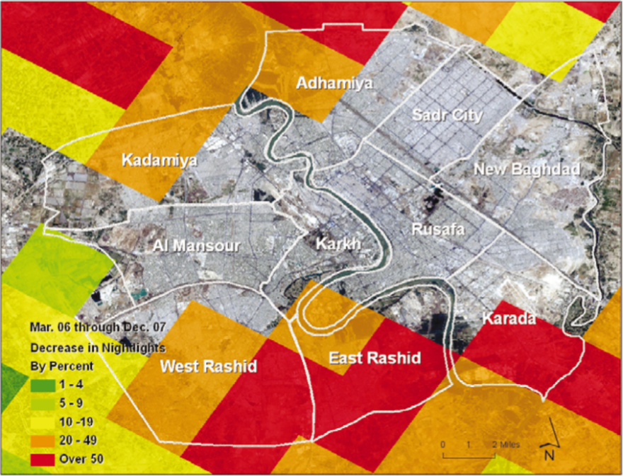 Mapping The Failure Of The Iraq Surge Making Maps DIY Cartography - Map through satellite