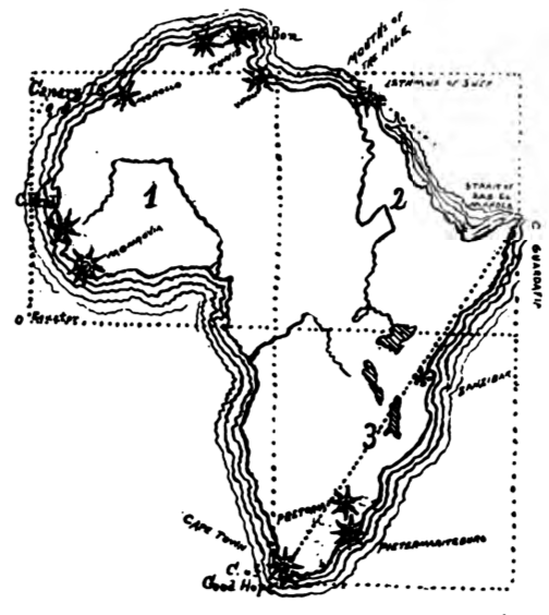 Africa Cartoon Drawing Draw From Cape Guardafuit to