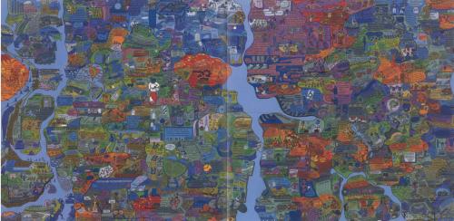 Öyvind Fahlström's World Map